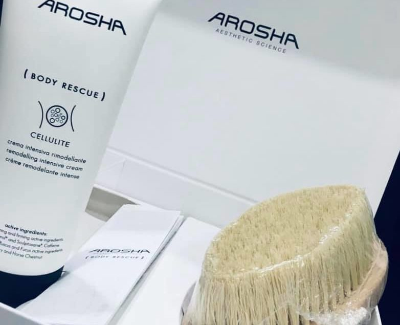 Box AROSHA szczotka + krem Cellulite